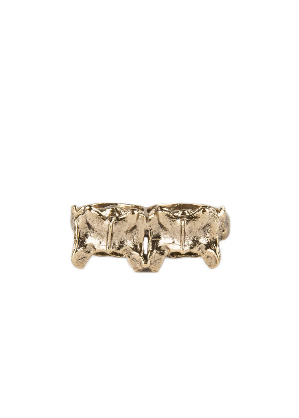 Bones and Feathers Collective Fox Double Knuckle in Gold