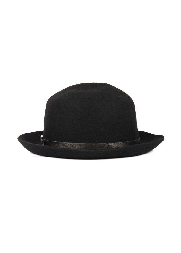 Men's Brookes Boswell Millinery - Optimo in Black Wool Felt