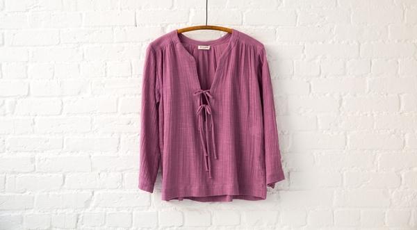 masscob tie blouse