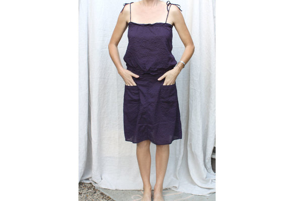 Patmos Top and Skirt in Grape Check
