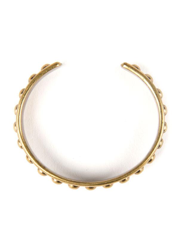Dudine - Durango Studded Cuff in Oxidized Brass