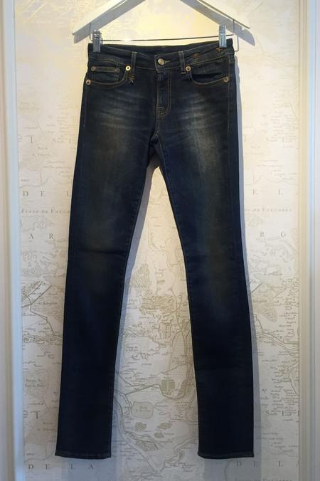 R13 'Skinny' in dark worn