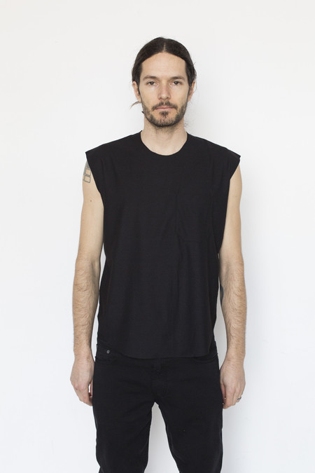 Assembly New York Cotton Muscle Tee - Black