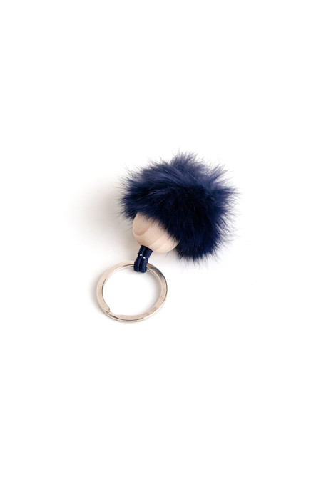 ina.seifart Fur & Wood Fellbommel Keychain