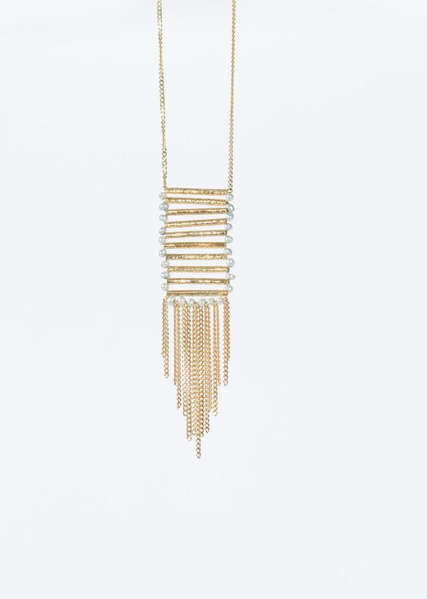 5 Octobre Velvet Ladder Necklace