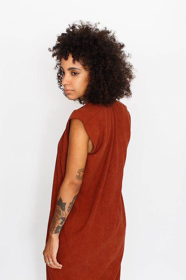 Miranda Bennett Rust Everyday Dress | Silk