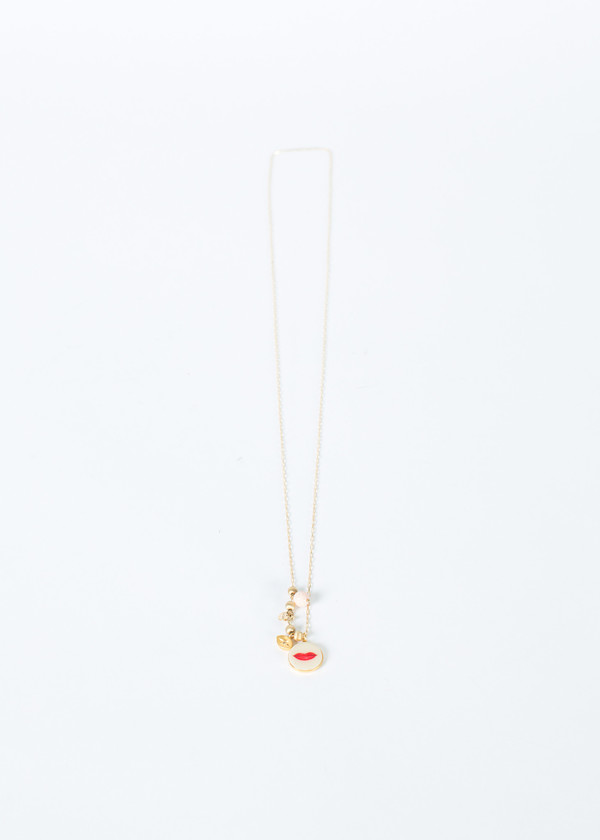 5 Octobre Lipstick Charm Necklace