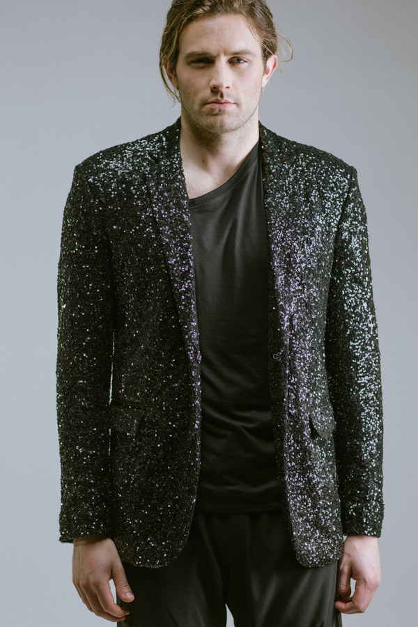 Any Old Iron Black Sequin Blazer