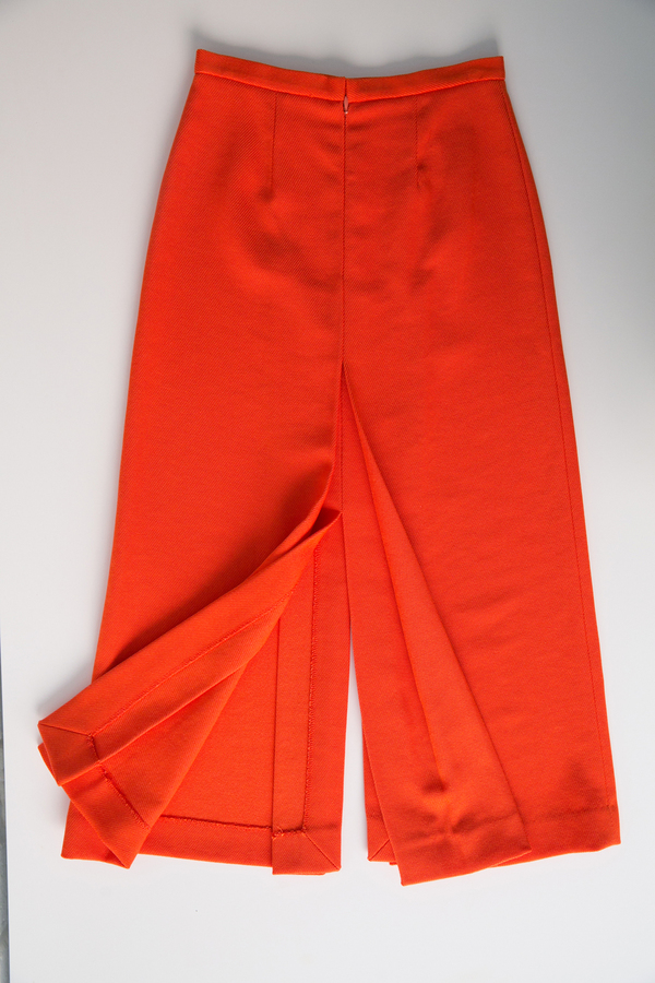 apiece apart persimmon slit skirt