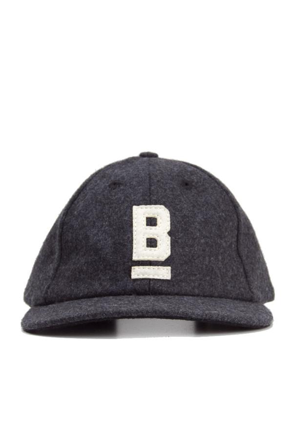 Bridge & Burn B Flat Wool Cap Charcoal