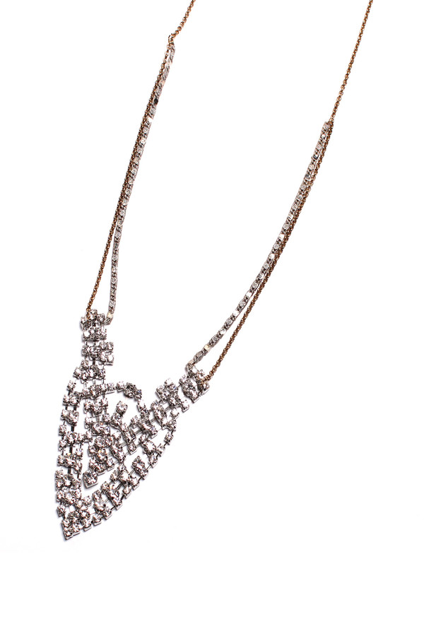 Serefina Jeweled Lace Emblem Necklace