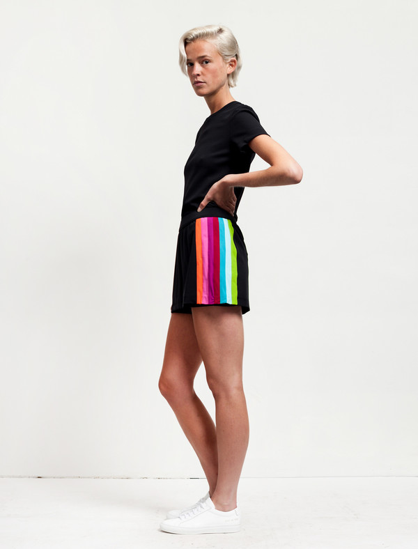 No Ka Oi Amae Skirt Black/Rainbow