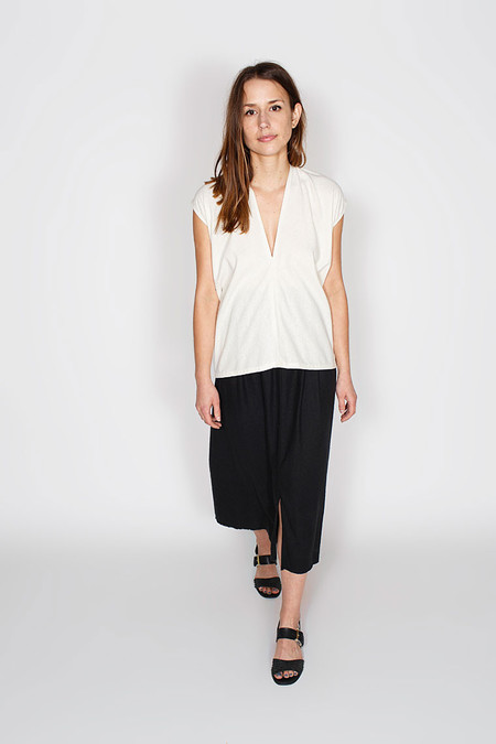 Miranda Bennett  Everyday Top, Silk Noil in Natural