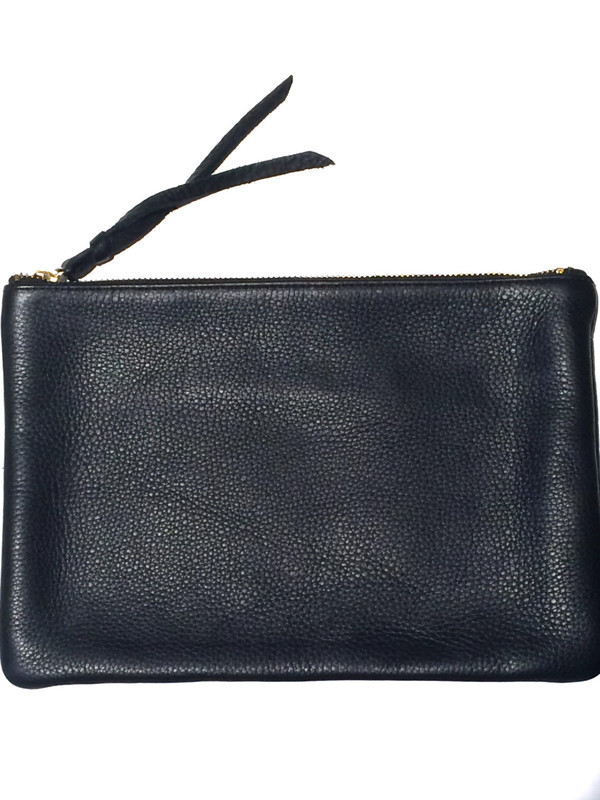 OLIVEVE queenie in black pebble cow leather
