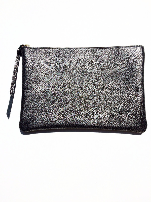 OLIVEVE queenie in pewter metallic cow leather