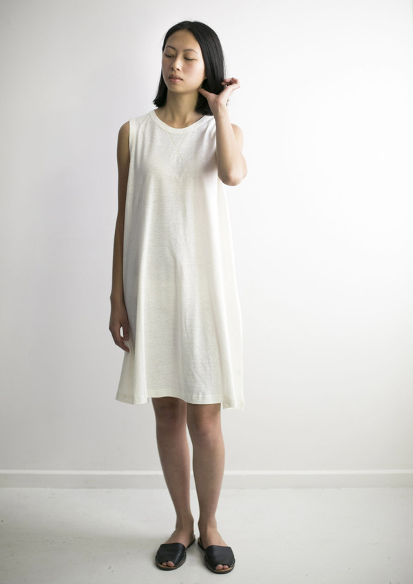 GOOD STUDIOS WOMENS HEMP JERSEY ALINE DRESS