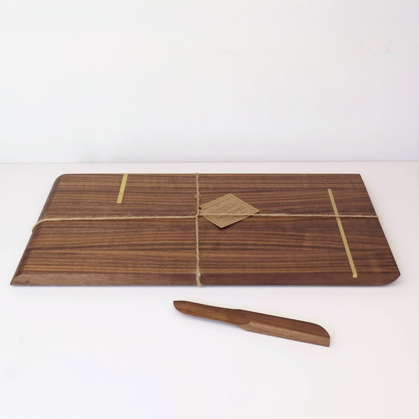 Christina Hilborne Large Walnut Serving Board with Knife