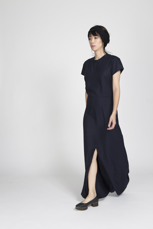 Ali Golden Cap Sleeve Maxi Dress in Black