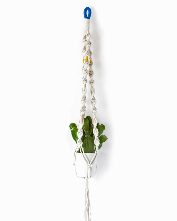 Cold Picnic Macrame Plant Hangers in Colorblock Cenotes