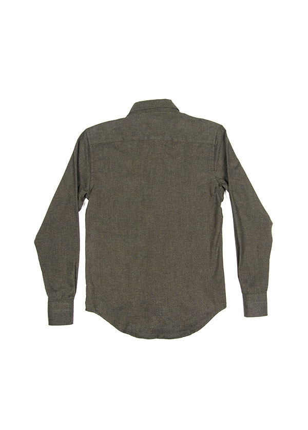 Men's Naked & Famous Denim - Regular Shirt in Soft Brushed Twill Charcoal