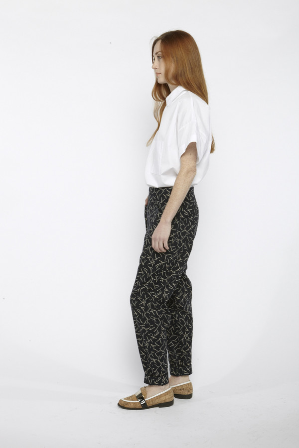 Suzanne Rae Printed Hip Pockets Pants