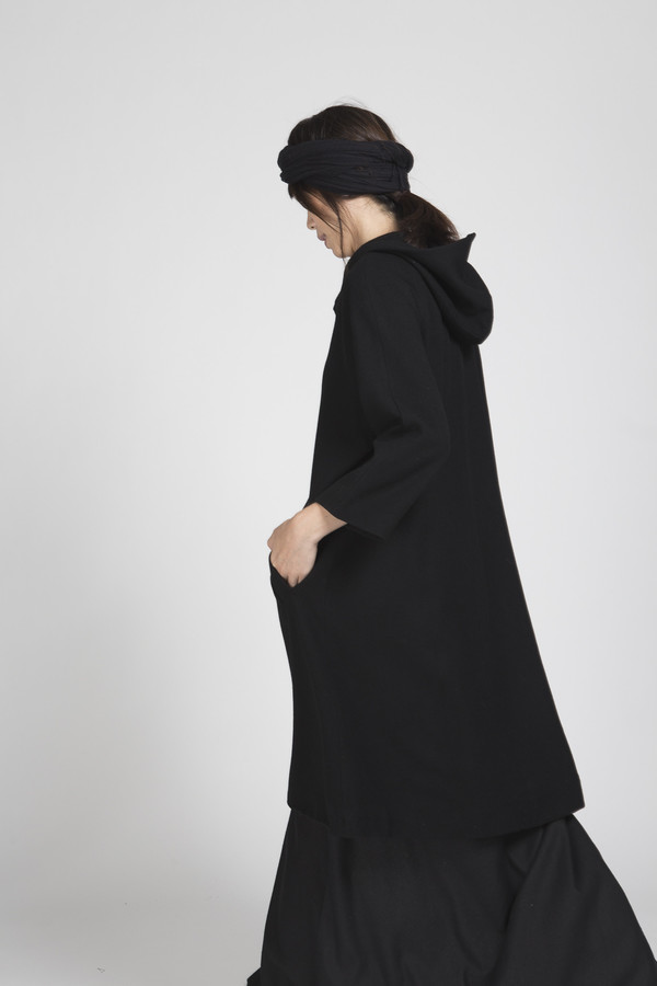Ali Golden Raglan Hooded Coat