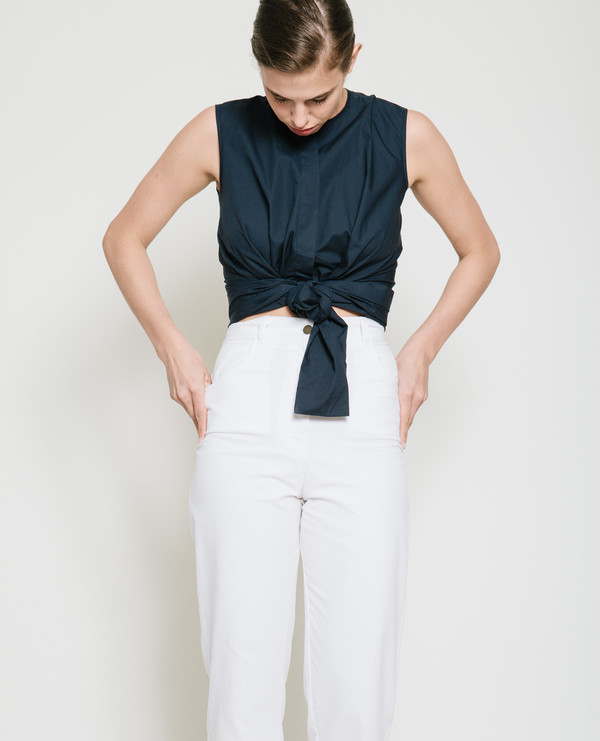 Gary Bigeni Sall Sleeveless Wrap Top