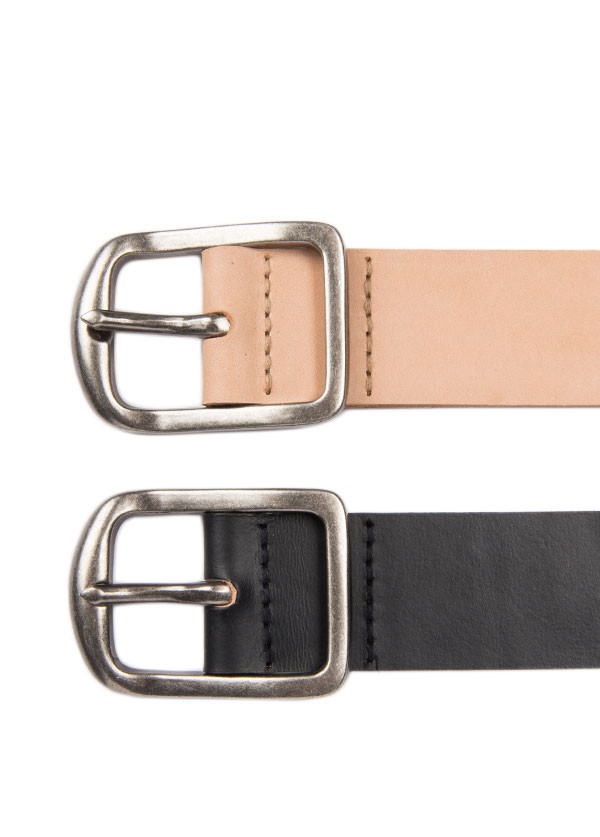 Men's Naked & Famous Denim - Thick 7mm Leather Belt