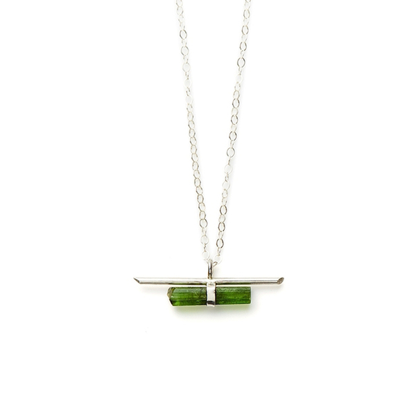 Jené DeSpain Nova Bar Necklace in Silver