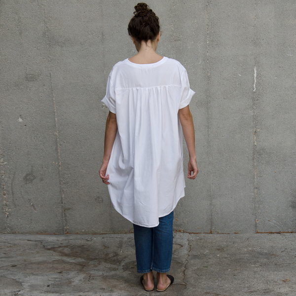 ALI GOLDEN SHIRT/DRESS - WHITE