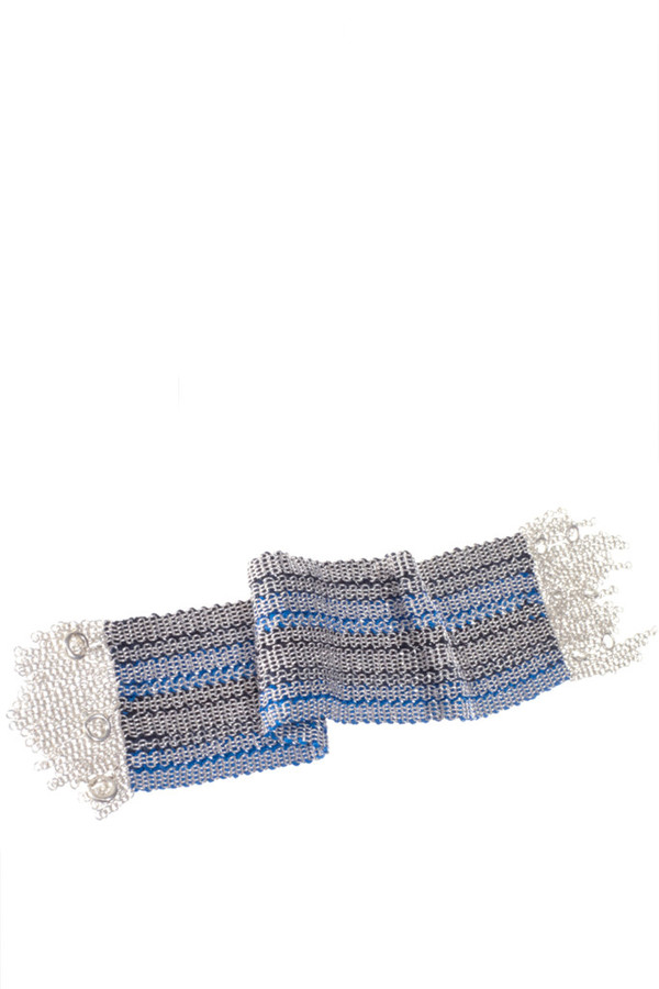 17 by Stephanie Schneider Wide Woven Bracelet