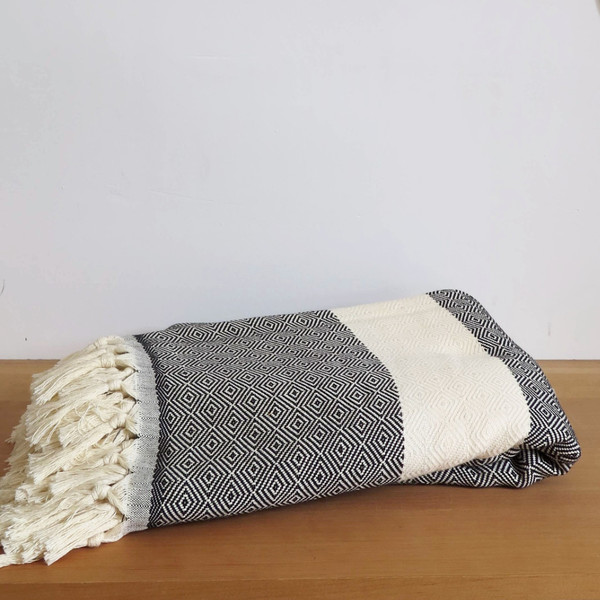 Sunday Dry goods Diamond Throw