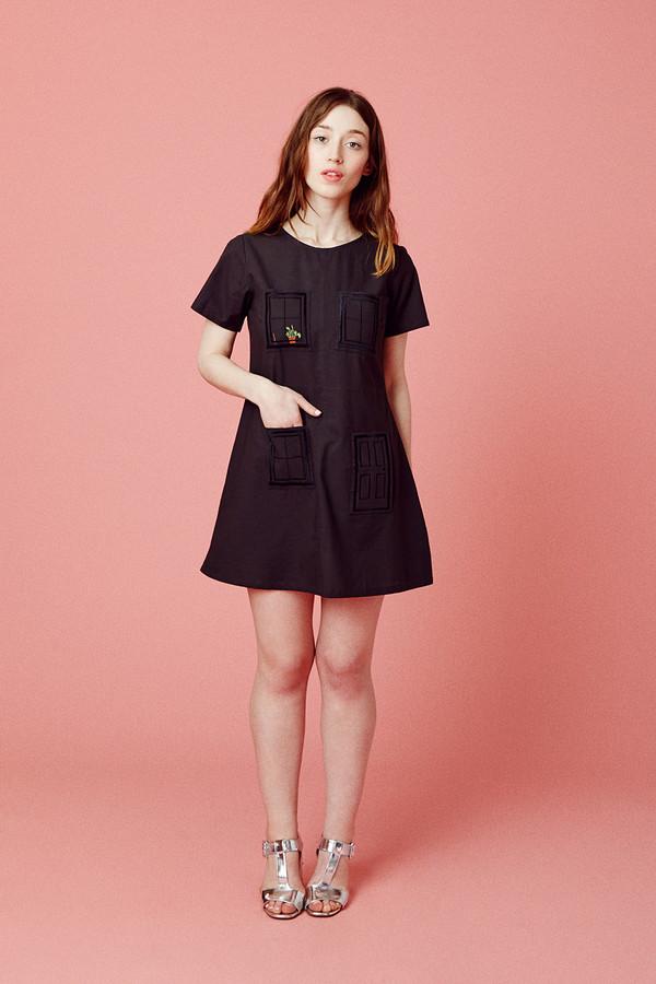 Samantha Pleet House Dress - Black