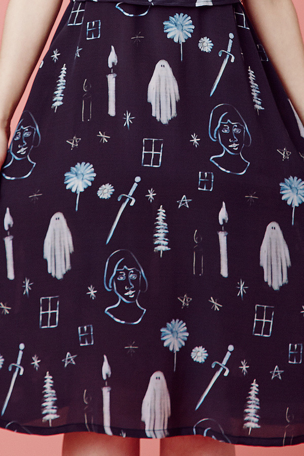 Samantha Pleet Nightfall Dress - Premonition Print