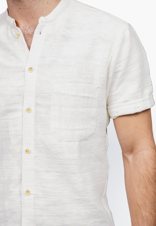 Men's New Market Goods Khadi Short-sleeve Button-down Shirt