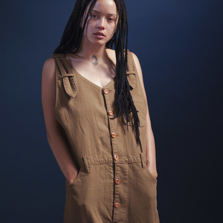 Coffee Dyed Overalls