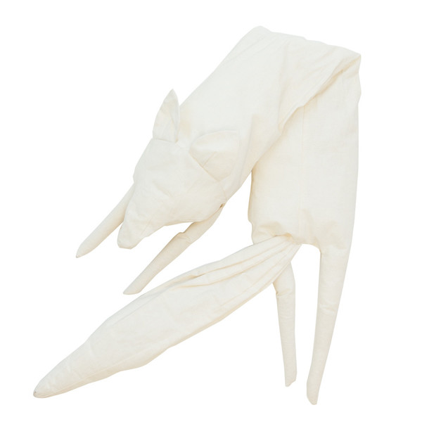 Faux Fox Scarf in Muslin