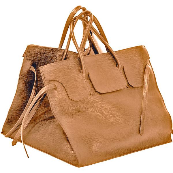 Four Sided Rectangular Bag in Caramel