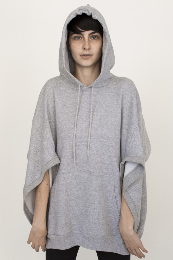 Hooded Cape in White