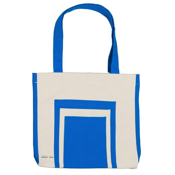 Slow and Steady Wins the Race Inventory Books Bag in Canvas, Black, Blue