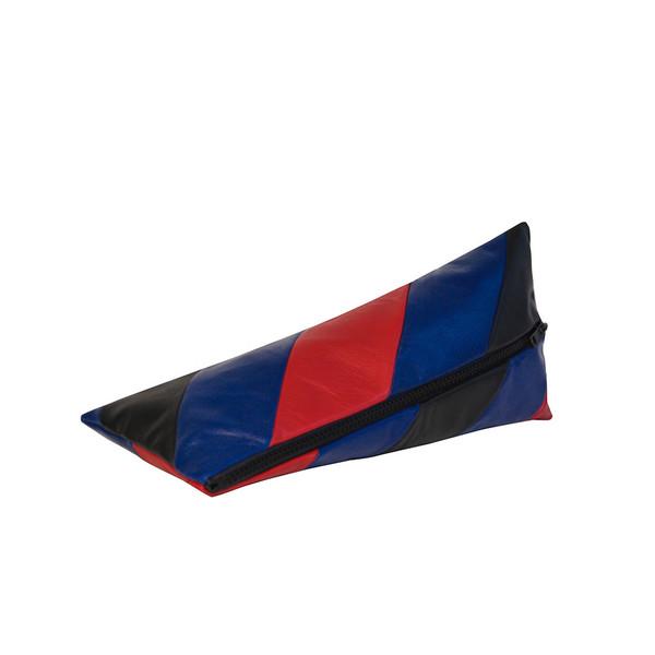 Striped Pyramid Pencilcase, Black Blue Red