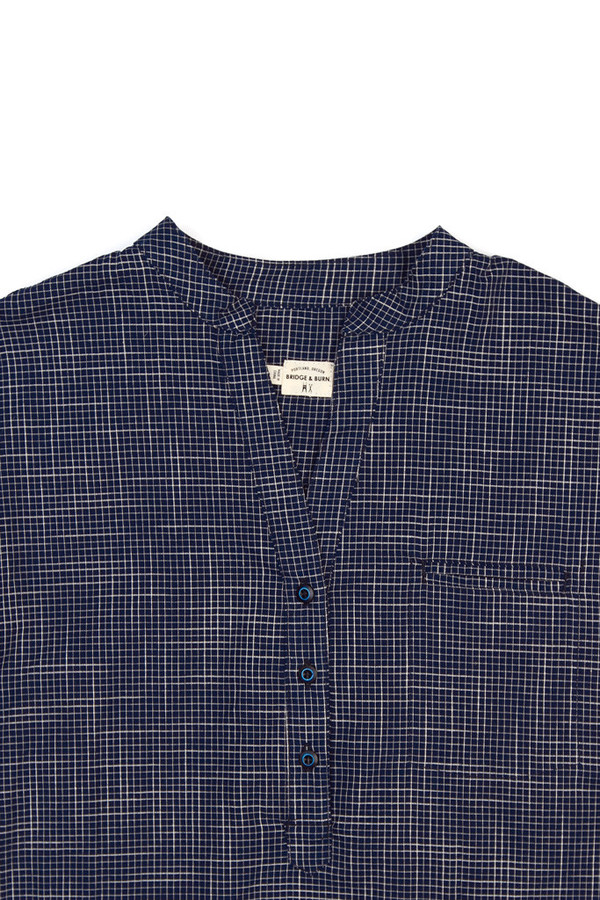 Bridge & Burn Newell Navy Grid