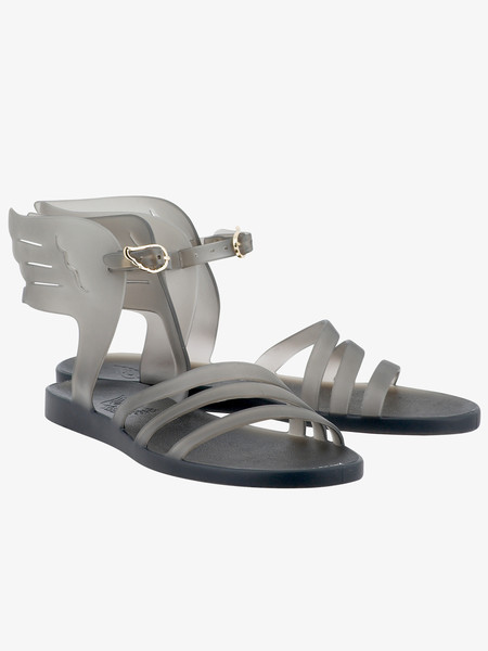 Ancient Greek Sandals Ikaria Jelly Dark Clear