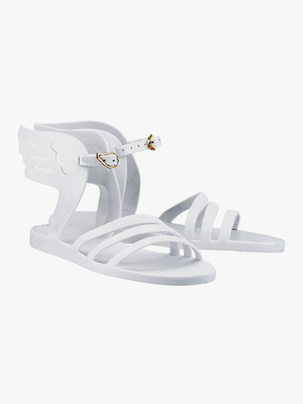 Ancient Greek Sandals Ikaria Jelly White