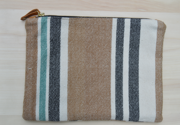 Ceri Hoover Bags Natural Stripe Waller Clutch