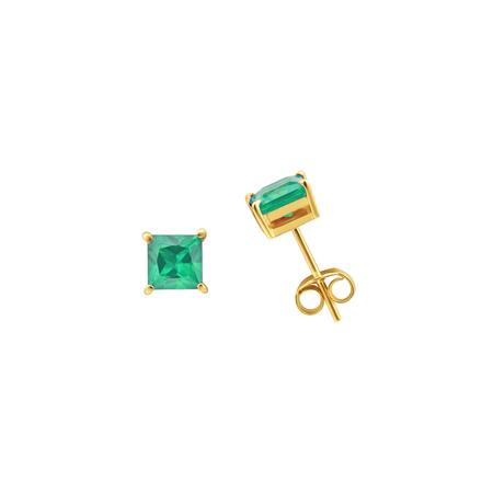 Tara 4779 ARC studs - Emerald