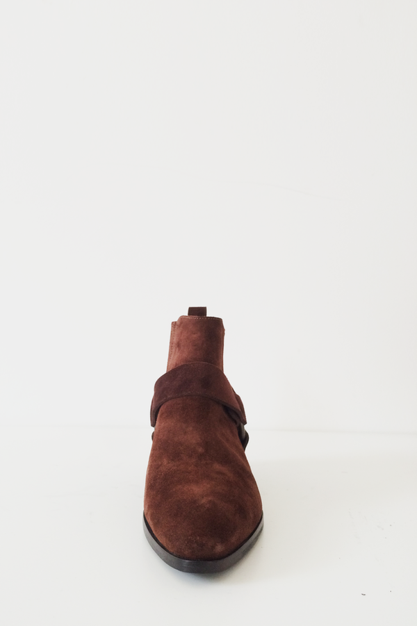 Assembly New York Brown Suede Harness Boot