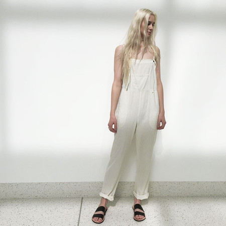 LACAUSA - Raw Silk Overalls