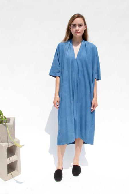 Miranda Bennett Muse Dress, Oversized, Silk Noil in Indigo