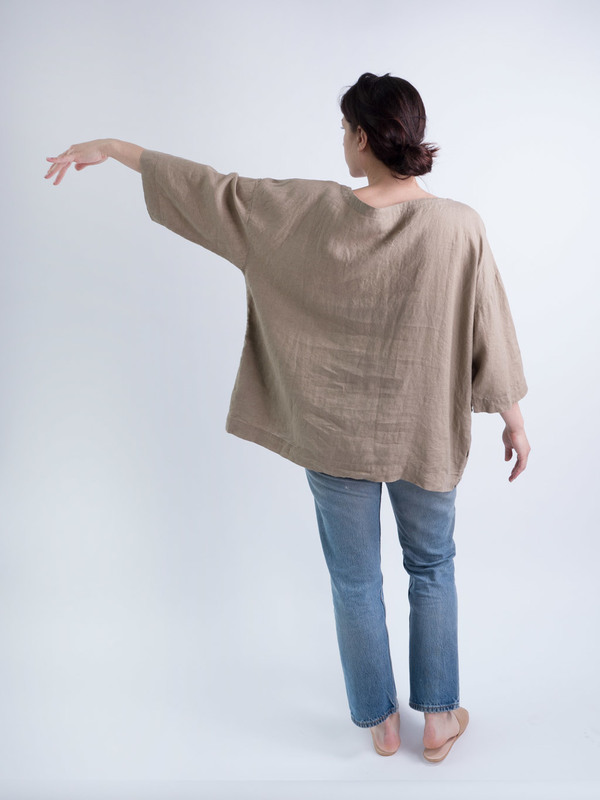 duo nyc,linen,top DUO NYC Vintage Linen Tunic